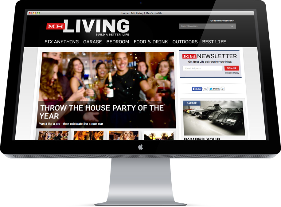 MensHealth Living Drupal homepage