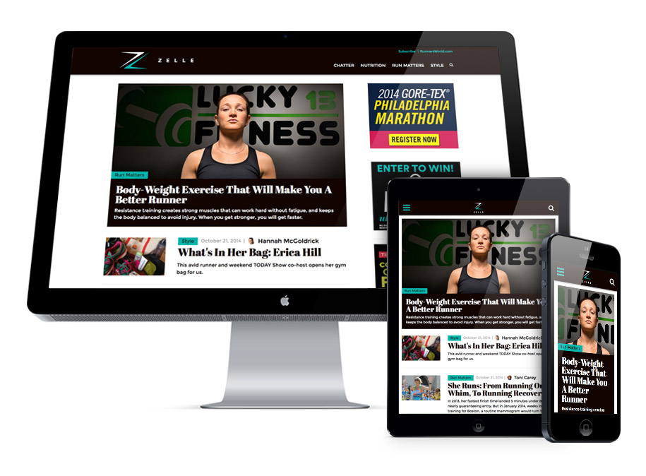 Runner's World Zelle Responsive Development
